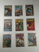 Lot Of 9 Eclipse Comics Airboy Comic Book Birdie Skywolf Arctic Deathzone