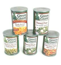 Green Giant Plastic Pretend Canned Play Food Lot Peas Bean Carrot Corn Preschool
