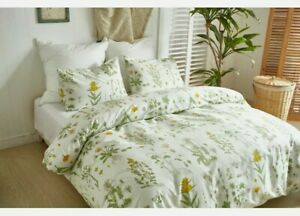 Floral Print Soft Quilt Duvet Cover Bedding Pillowcases Set Twin Queen Size NEW