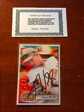 Signed KARRIE WEBB QUEENSLAND HEROES OF SPORT GOLF TRADING CARD AUTO+COA