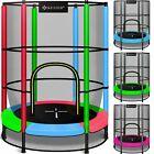 KESSER® Trampolin Kinder Kindertrampolin Gartentrampolin Mit Netz 140cm Indoor <br/> Mit Netz✔️Edelstahlrahmen ✔️Gummiseil-Federung ✔️50Kg