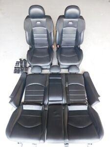 Mercedes Benz E63 AMG W211 2006 Black Leather Front Rear Power Seat Set J116