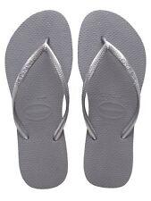 Havaianas Slim Brazil Women's Flip Flops Steel Grey Size US-7/8 EUR-39/40