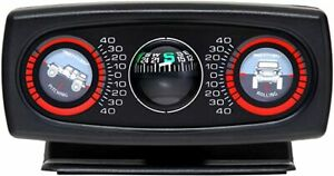 Smittybilt Inclinometer II with Compass for Jeep Wrangler CJ 4x4 SUV Truck Fun!