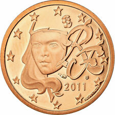 [#730138] Frankrijk, 5 Euro Cent, 2011, FDC, Copper Plated Steel, KM:1284