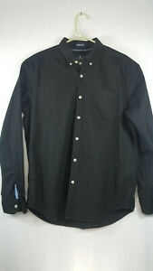 American Eagle Men's Classic Fit Seriously Soft Button Down Flannel Shirt Black
