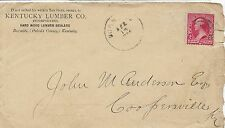 VINTAGE 1894 US #10 COVER,NO LETTER WITH COOPERSVILLE, Ky CANCEL (Z4)
