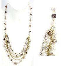Modeschmuck perlen  Modeschmuck-Halsketten & -Anhänger im Collier-Stil aus Perlen mit ...