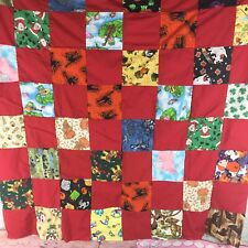 "Patchwork Quilt Top /""Jewel Box #2/"" ~PIECED~ Medallion Wall Lap 52/""Sq USA Baby"