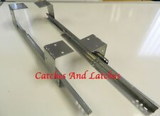 Keyboard Shelf Runners 350mm Length Extending Silver Painted Metal Slides
