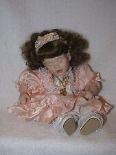 "9"" Marie Osmond Precious Tiny Tots Porcelain Doll 1999 In Peach Dress"