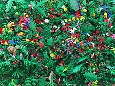Lego Random Plant Vine Tree Bush Flower Leaf Lot 50 Units