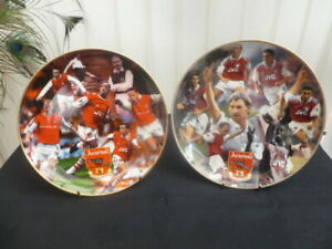 DANBURY MINT ARSENAL FC COLLECTOR PLATES GREAT STRIKERS AND 97-98 DOUBLE