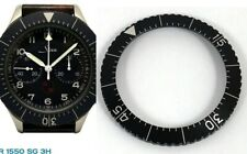 "HEUER MILITARY ""BUND"" Flyback chronograph 1550 SG BLACK BEZEL INSERT ONLY 1981"