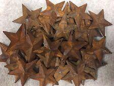 """DLCC~200 PCS 1.75"""" PRIMITIVE RUSTIC 3D STARS Rust tin Metal"""