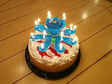 Blue Lotus Candle - Musical Birthday Candle