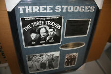 THE THREE STOOGES TRIBUTE COLLAGE Framed 20X24 W/SUEDE! LARRY, MOE, CURLY