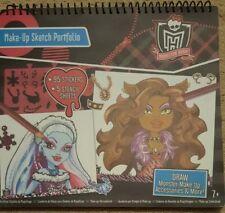 Monster High Make-up Sketch Portfolio Stencils Stickers Drawing Spiral Bound