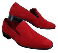 Chaussure mocassin Homme en daim en couleur bleu rouge noir chic décontracté