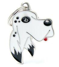English Setter Dog ID Tag (28) - Engraved FREE - Personalised - Charm - Keyring