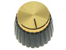 10pcs boutons d'amplificateur de guitare noir avec bouchon d'or pour Marshall
