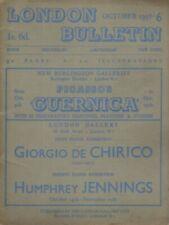 Herbert Read, Paul Eluard / LONDON BUTTETIN NO 6 OCTOBER 1938