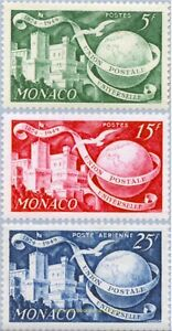 EBS MONACO 1949 - Universal Postal Union - YT 332-333-PA45 MNH**