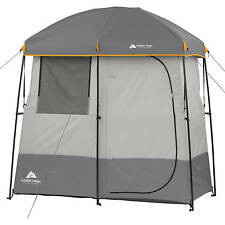 Camping Shower Tent 2 Room Portable Outdoor Toilet Hiking Solar Air Bed Bath New