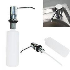 300ml Leer Bad Küche Spüle Metall Einbau-Seifenspender Flüssigseife Spender Easy