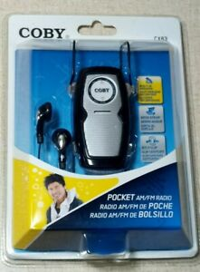 Coby CX83 Portable Pocket AM/FM Radio w Lightweight Stereo Earphones