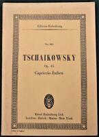 "TCHAIKOVSKY ""Capriccio Italien"" Edition Eulenburg study score sheet music book"