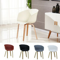 Marcelo Scandinavian Dining Chair Armchair Plastic White Black Grey Chocolate