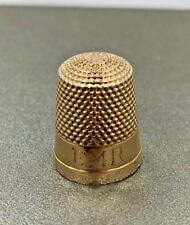 Antique 10k Yellow Gold Sewing Thimble by Waite Thresher Co. 3.9g