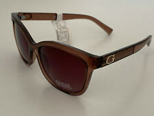 NEW!  GUESS LIGHT BROWN CLASSIC FRAME SUNGLASSES SHADES SUNNIES SALE