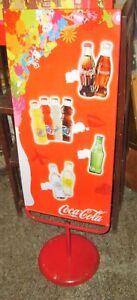 tabella in latta con piede COCA COLA FANTA KINLEY'S originale anni '80
