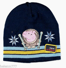 516fbd2ada7 Licensed Product Peppa Pig Beanie Hat Size 3 4 5 6 Years Soft Double Layer  Knit