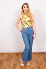 90s vintage metallic gold halterneck top by EIC-PI Happy People made in Italy