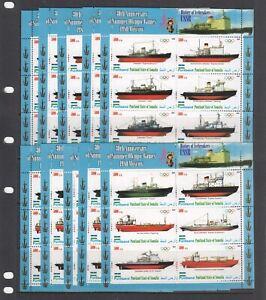 Icebreakers Ships Olympic 1980 2010 Puntland  MNH 12v set perf X 5 Wholesale lot