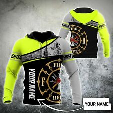 NEW Customize Name Firefighter Shirts 3D Hoodie Best Price US Size Dad Gift