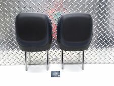 15-17 CHRYSLER 200 200S FRONT SEAT HEADREST SET HEAD RESTS BLACK & BLUE LEATHER