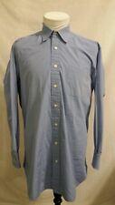 ROBERT TALBOTT Solid Blue Dress Shirt Mens 16 x 33  Made in USA