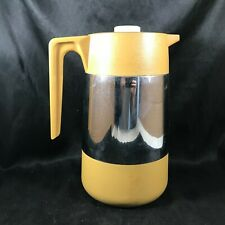 New listing Vintage Golden Yellow Chrome Retro Kitchen Insulated Pitcher