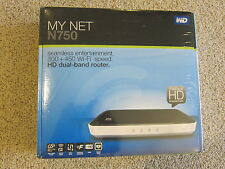 New Sealed WD My Net N750 HD Dual Band Router Wireless WiFi Router Accelerate HD