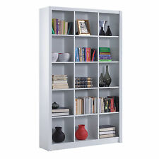 Ciara 5 Tier Bookcase Room Divider Display 15 Cube Shelf Unit in White