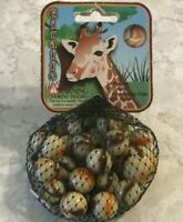 Net of GIRAFFE Marbles 100% Glass 24 Players 1 Shooter 2 Display Rings