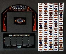 "Bally Alpha Stepper Slot Machine WINNING TIMES 15"" Top LCD Glass Kit w/ Strips"