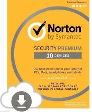 New Norton Internet Security Premium Antivirus 10 Devices 25GB Cloud [Download]