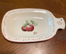 Pfaltzgraff DELICIOUS Apples Stoneware Handled Party Plate / Platter