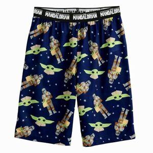 NWT Baby Yoda Pajama Shorts Pants Lounge Mandalorian Star Wars Boy Girl S M L XL