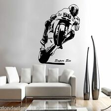 Marco Simoncelli 58 Wall Art 02 motorcycle racer Decalcomania Grafica Adesiva Unica